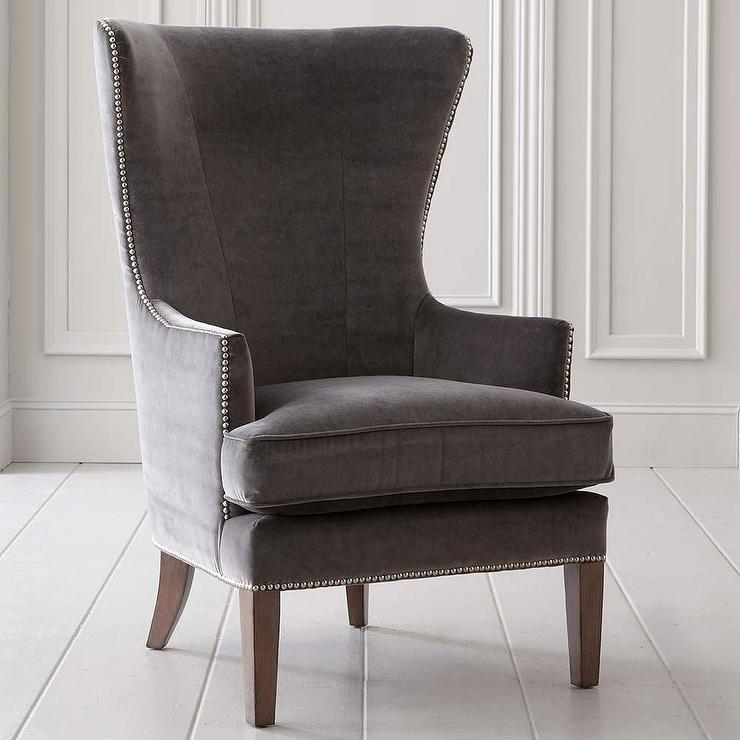Whitney Accent Chair In Gray