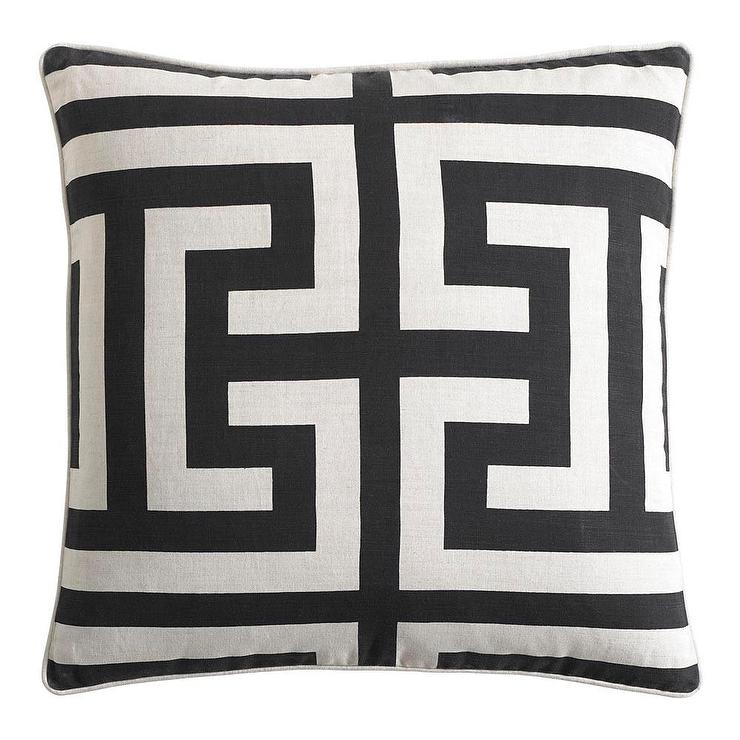 Black And White Pattern Throw Pillows
