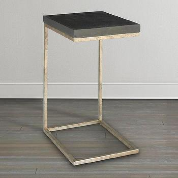 Modern C Style Drink Table In Black And Gold