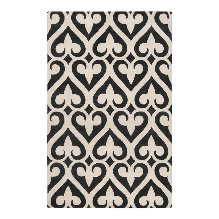 Pattern Rug Off White And Brown