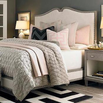Presidio Upholstered Bed In Grey