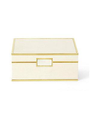 Shagreen Jewelry Box in Cream