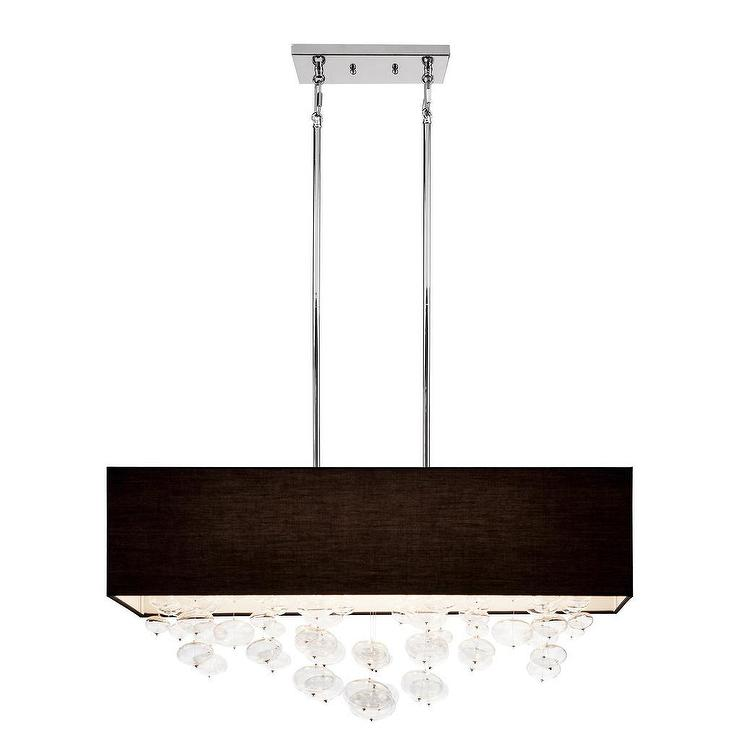 Kichler lighting piat collection 6 light chrome rectangle pendant kichler lighting piat collection 6 light chrome rectangle pendant black shade aloadofball Gallery