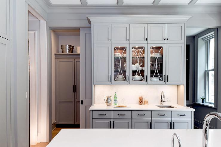 glass front butler pantry cabinets - Butler Pantry Design Ideas