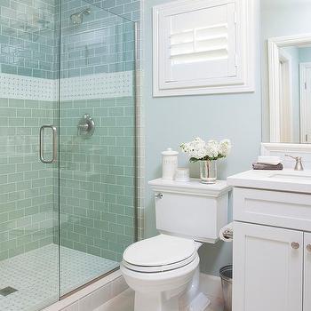 Blue Border Tiles For Bathrooms. Blue Cottage Bathroom With Blue Subway Shower Tiles