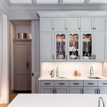 Glass Front Butler Pantry Cabinets Design Ideas