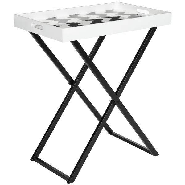 Perfect Safavieh Abba Black And White Tray Table