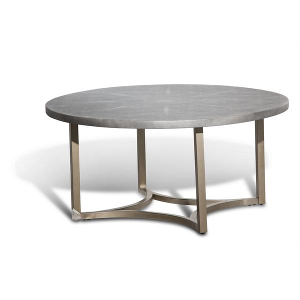 Alta Round Cocktail Table With Slate Grey Top By Michael