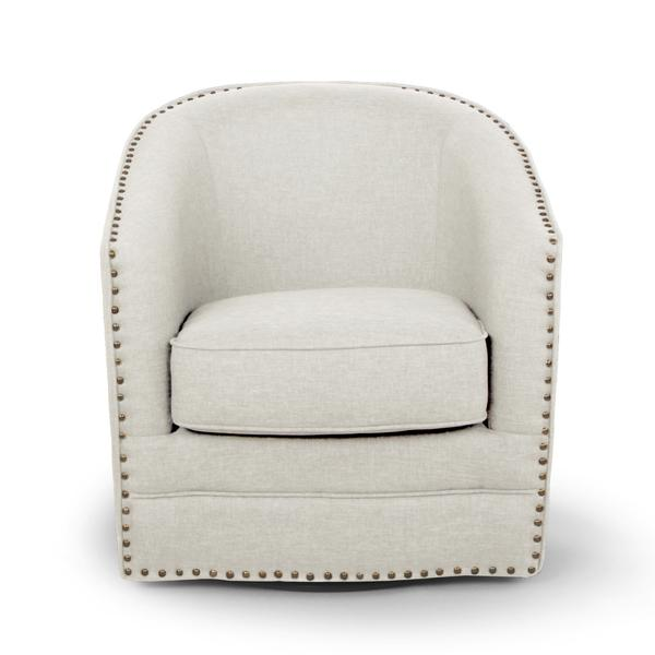 Exceptionnel Porter Modern And Contemporary Classic Retro Beige Fabric Upholstered Swivel  Glider Tub Chair