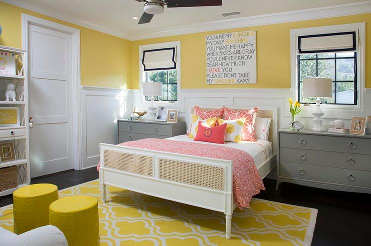 Yellow And Gray Bedroom Decor: Yellow And Gray Kid Bedroom