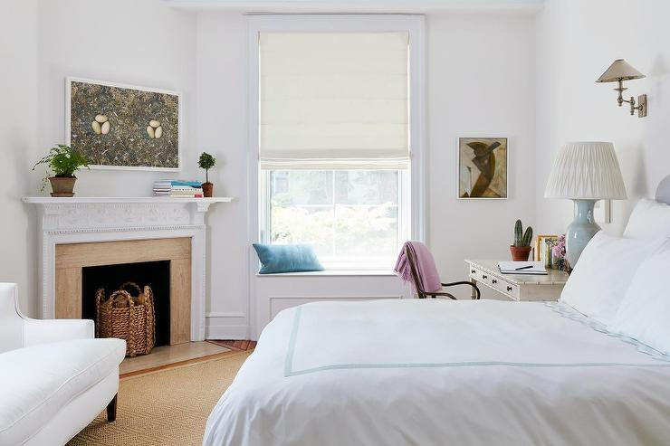 Corner Bedroom Fireplace Transitional Living Room