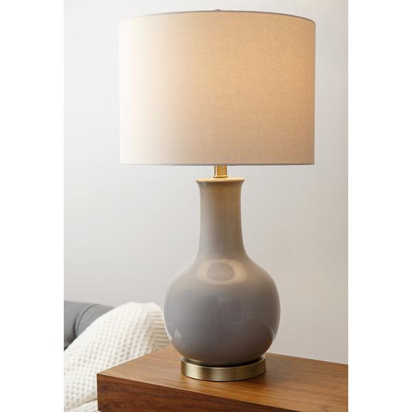 Abbyson living gourd grey ceramic table lamp