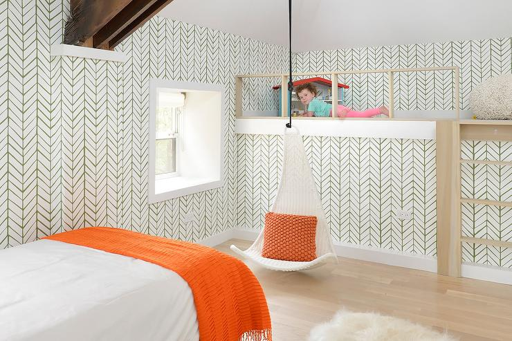 High Quality Green And Orange Toddler Room
