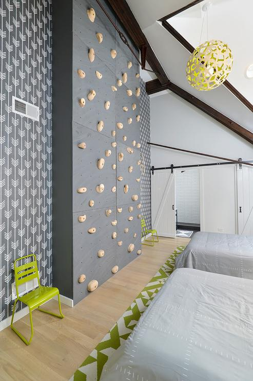 Kids Room With Climbing Rock Wall - Contemporary - Boy'S Room