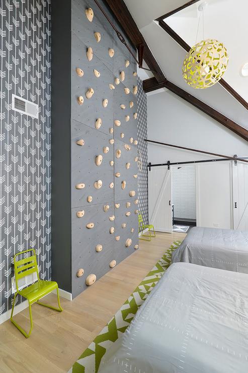 Kids Room With Climbing Rock Wall