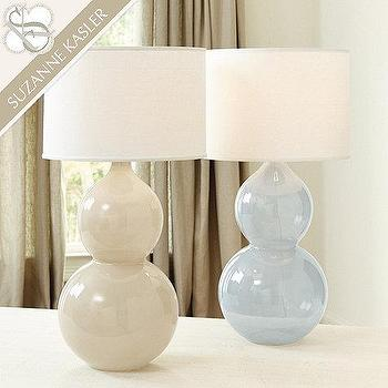 double gourd lamp cream suzanne kasler celeste table lamp in gray and blue pink double gourd large