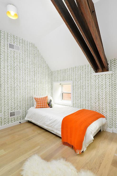 Orange And Green Toddler Bedroom