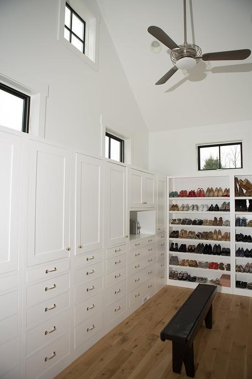 Walk In Closet With Cathedral Ceiling Transitional Closet