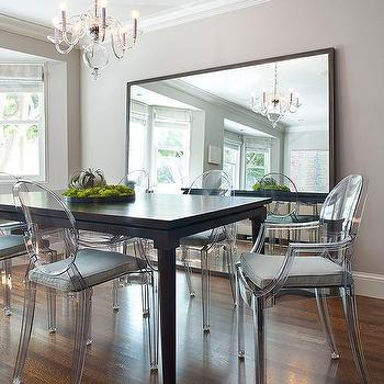Gray Dining Room With Ghost Chairs