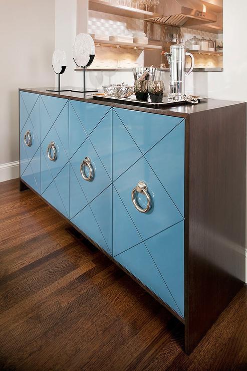 view full size - Tartan Blue Abigail Sideboard Buffet Storage