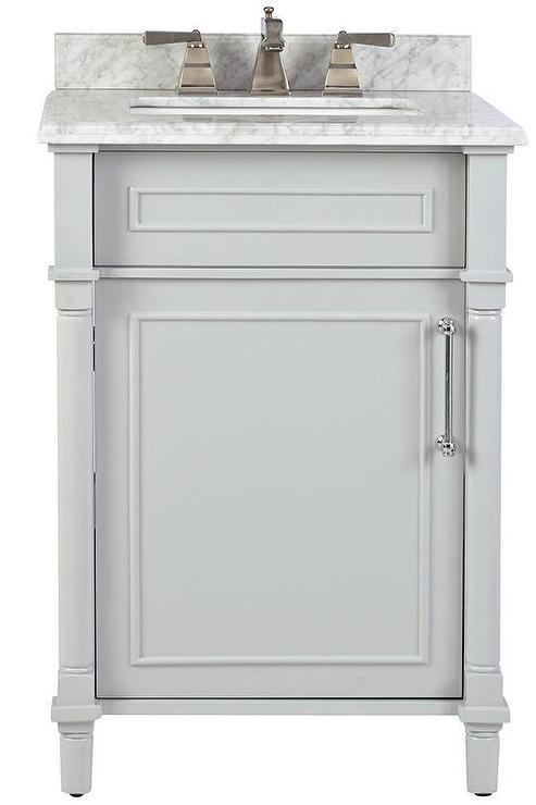 Aberdeen 24 Inch Single Vanity In Dove Gray