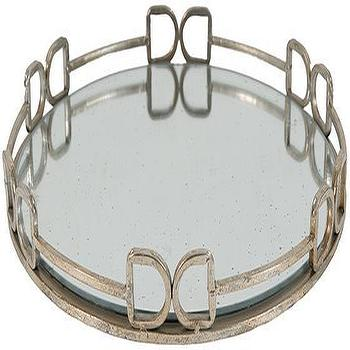 Barletta Tray In Distressed Silver