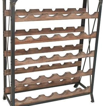 barolo wine rack in natural