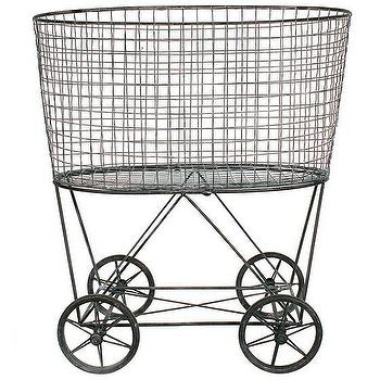 fairview laundry basket in metal