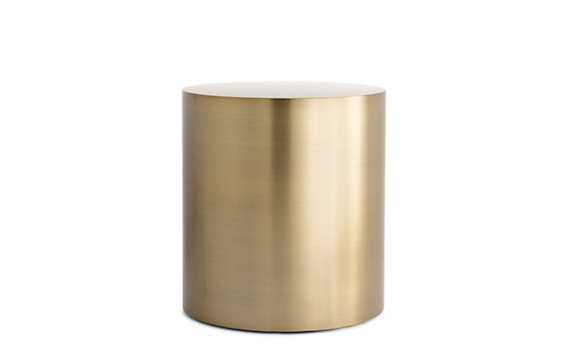 Gentil DWR Drum Side Table Bronze View Full Size