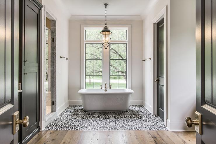 Mediterranean Bathroom Floor Tiles Design Ideas