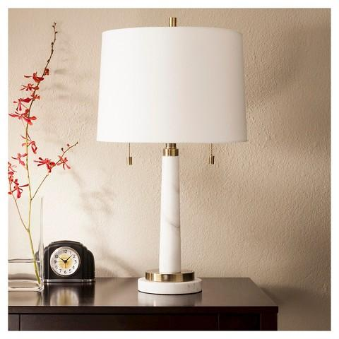 White Marble Franklin Table Lamp