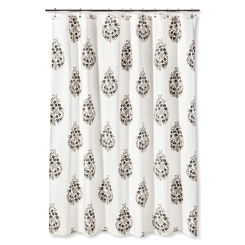 Threshold Paisley Shower Curtain In Grey