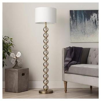 Isla Mercury Glass Silver Floor Lamp