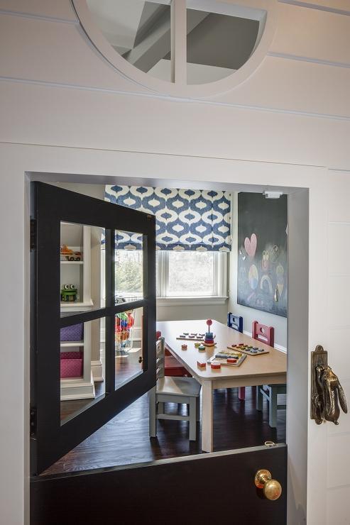 Attirant Playroom Black Dutch Door