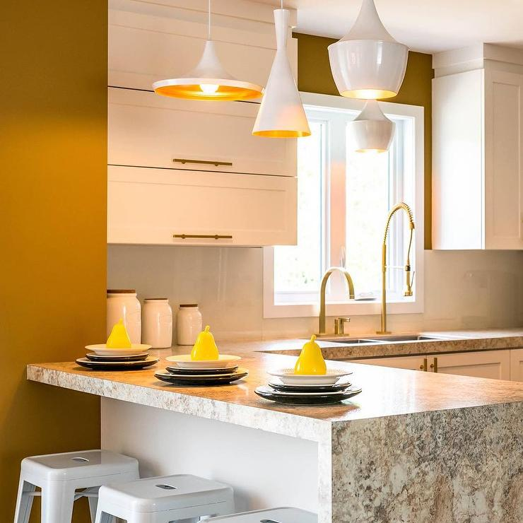 Merveilleux Yellow Kitchen Accents With Tom Dixon Beat Lights
