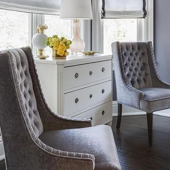 inspiration design master chairs. White French Dresser with Pink Glass Lamp Interior design inspiration photos by Marks  Frantz