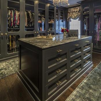 Glass front wardrobe cabinet doors contemporary closet for Closet island with glass top
