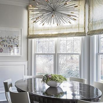 Oval Dining Table With White T Back Dining Chairs