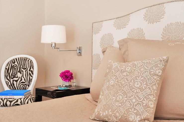 Peach Bedroom with Zebra Chair view full size. Peach Pink Walls Design Ideas