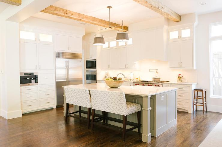Kitchen Island With Upholstered Bench Seating Design