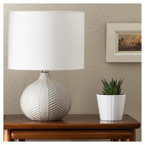 Ceramic Table Lamp in Gray