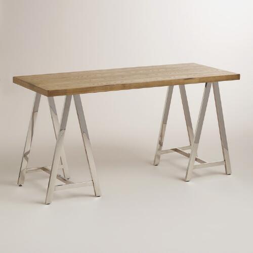 American Signature Furniture Home Office Sawhorse Desk