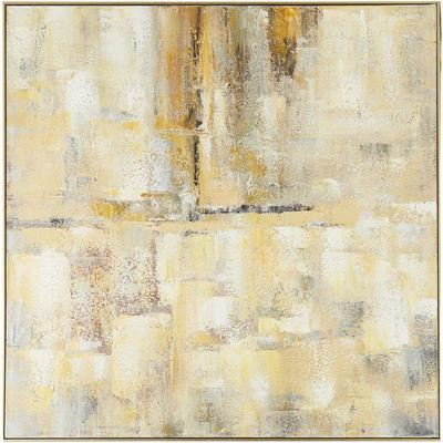 Muted Framed Abstract Art Yellow