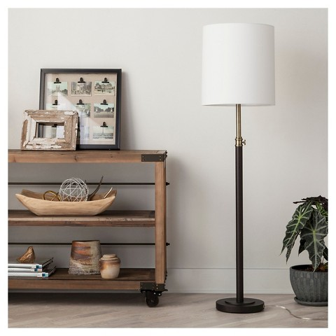 Threshold Davis Adjustable Column Floor Lamp   Ebony View Full Size