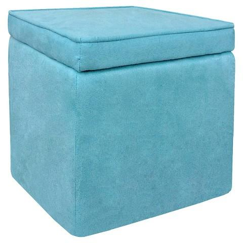 Room Essentials Cube Storage Ottoman In Turquoise