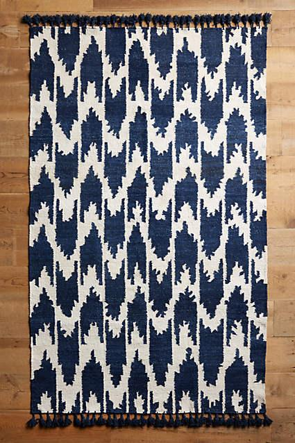 Ikat Rug Blue Home Decor