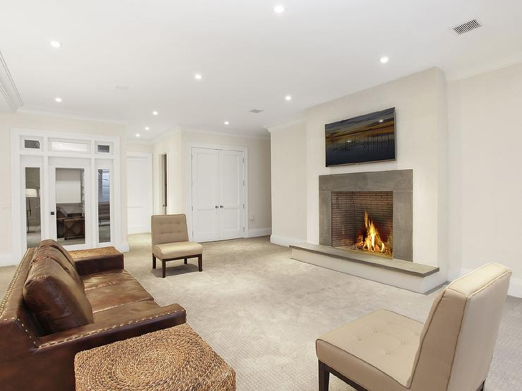 Basement Fireplace Design Ideas