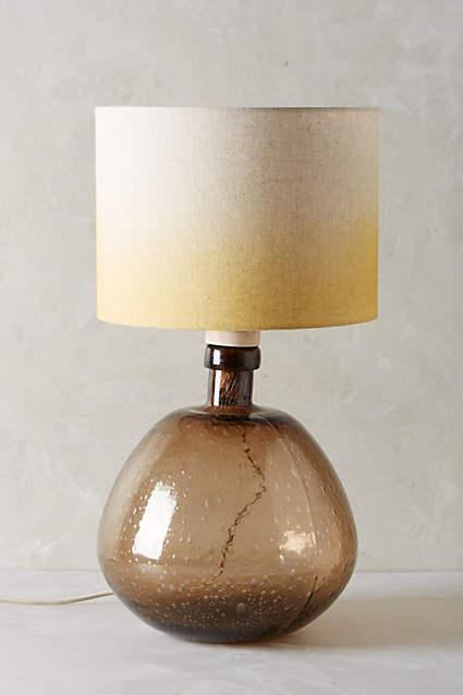 Glass Carafe Table Lamp Ensemble In Brown