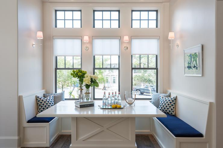 White And Blue Breakfast Nook Design Ideas