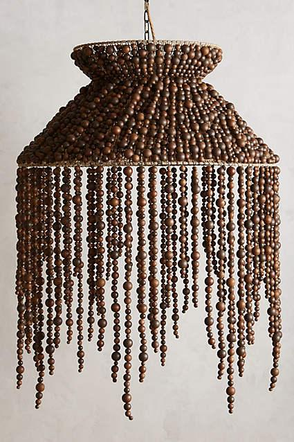 White hanging frosted beaded chandelier vara brown beaded chandelier aloadofball Choice Image